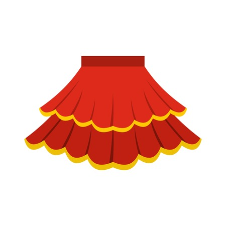 Skirt icon, flat style