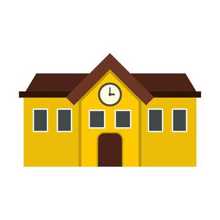 pastor: Chapel icon, flat style Illustration