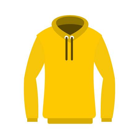 Hoodie icon, flat style Illustration