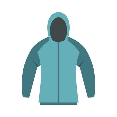 hooded sweatshirt: Sweatshirt icon, flat style Illustration