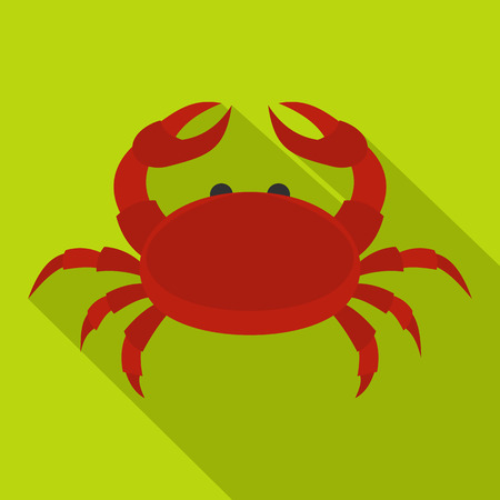 crab legs: Red crab icon, flat style