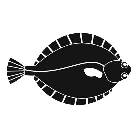 Flounder icon, simple style
