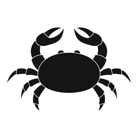 crab legs: Raw crab icon, simple style