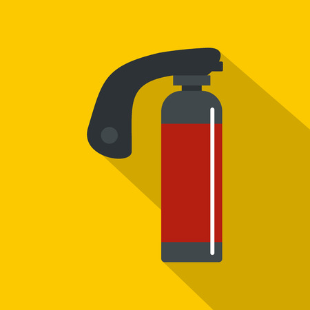 compressed air: Gas cylinder icon, flat style