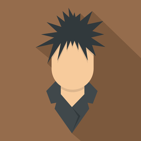 announcing: Singer icon, flat style Illustration