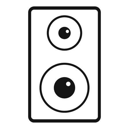 Subwoofer icon, simple style
