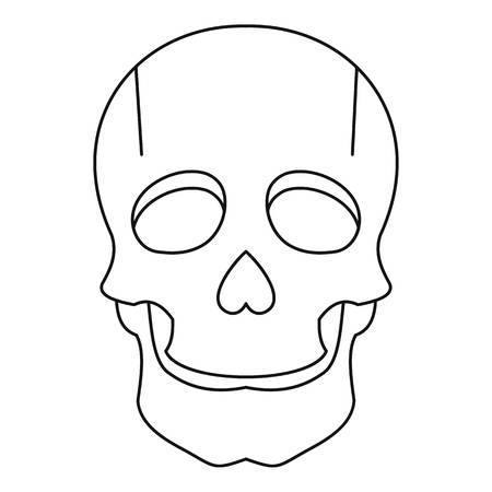 Singer mask icon, outline style