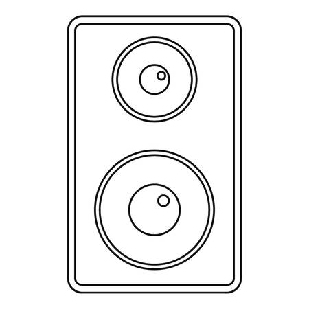 subwoofer: Subwoofer icon, outline style