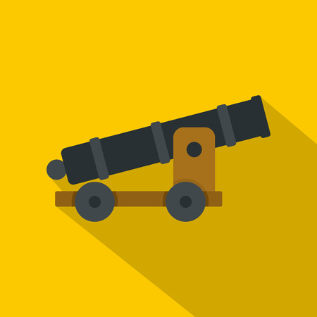 calibre: Cannon icon, flat style Illustration