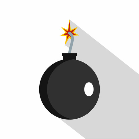 dynamite: Cannonball icon, flat style