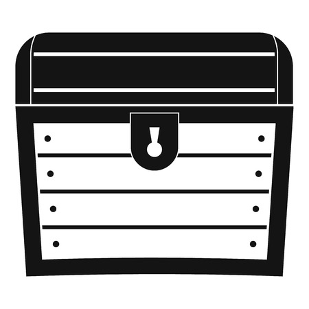 Chest icon, simple style
