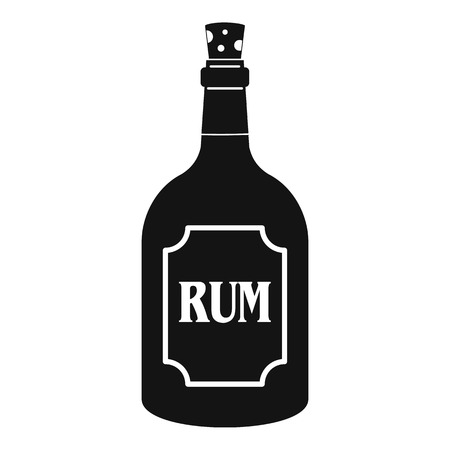 Rum icon, simple style