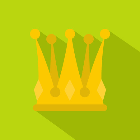 kingly: Kingly crown icon, flat style Illustration