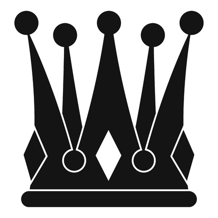 kingly: Kingly crown icon, simple style