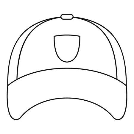 ski wear: Winter hat icon, outline style