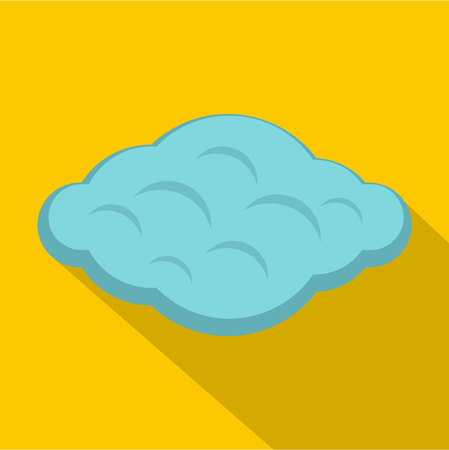 Curly cloud icon, flat style Illustration