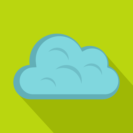 Big cloud icon, flat style Illustration