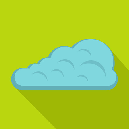 Cumulus cloud icon, flat style