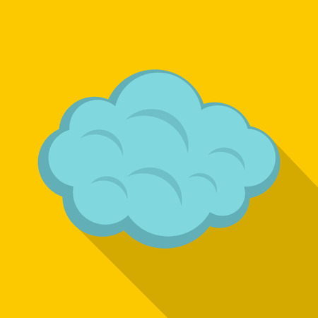 Summer cloud icon, flat style Illustration