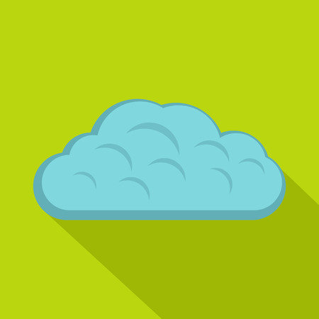 Winter cloud icon, flat style