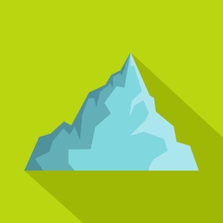 Iceberg icon, flat style Illustration