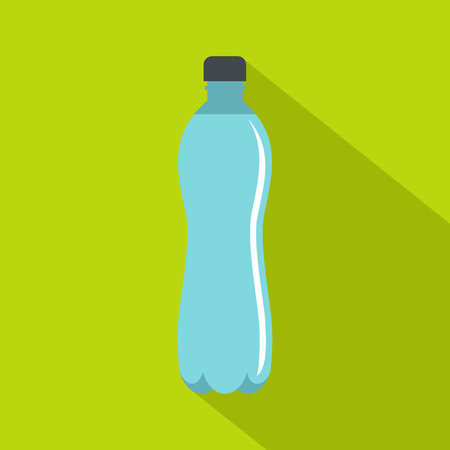leaking: Water bottle icon, flat style