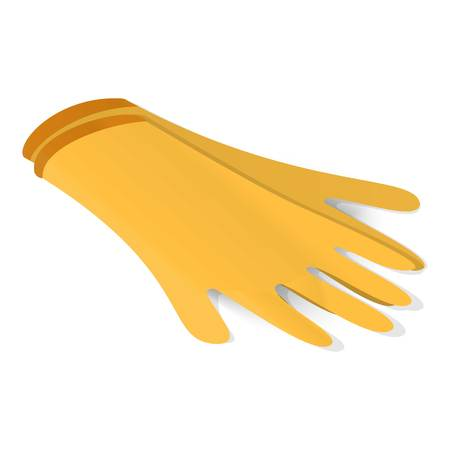 Latex gloves icon, isometric style