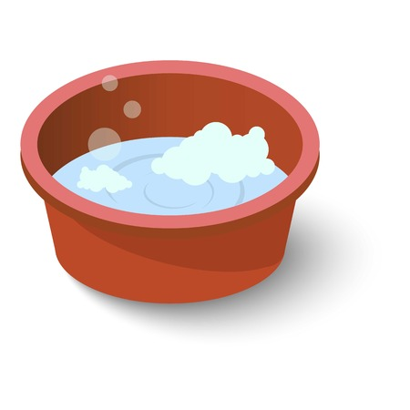 Water basin icon, isometric style