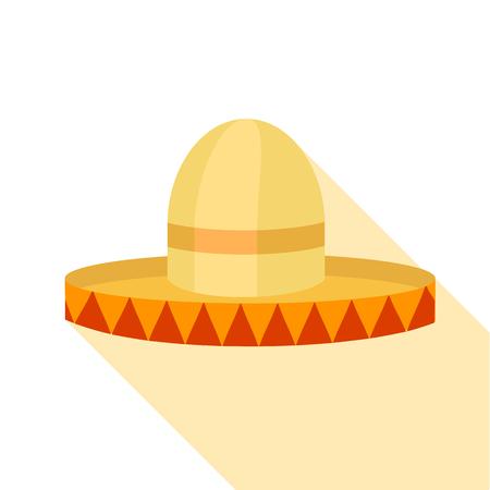 Sombrero icon, flat style Illustration