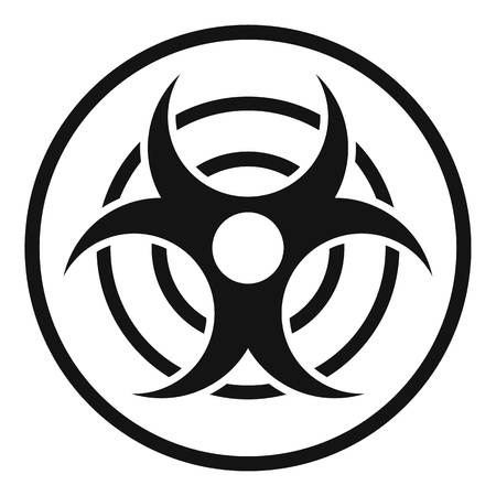 Sign of biological threat icon, simple style