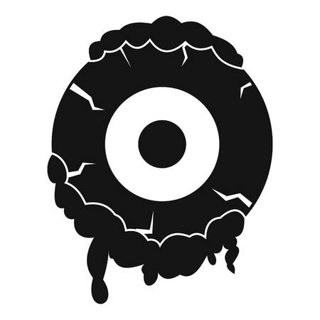 corpse: Scary eyeball icon, simple style