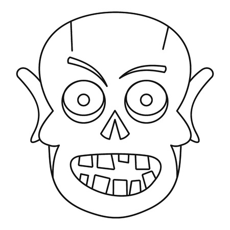 Dead icon, outline style Illustration