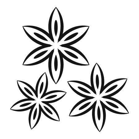 licorice sticks: Star anise icon, simple style