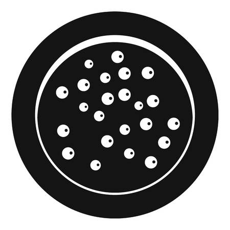 Peppercorns on a plate icon, simple style Illustration