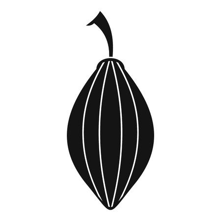 Black cardamom pod icon, simple style