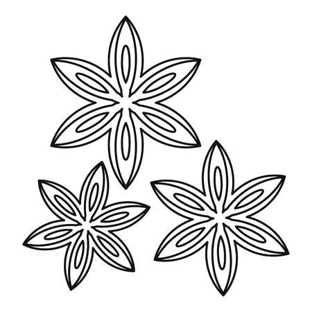 licorice sticks: Anise icon, outline style Illustration
