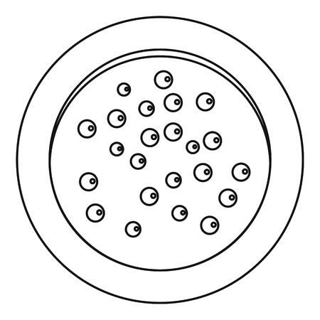Heap of pepper peppercorns on a plate icon