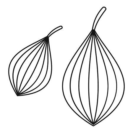 Ajwain spice icon, outline style