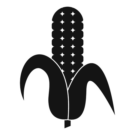 Corncob icon, simple style
