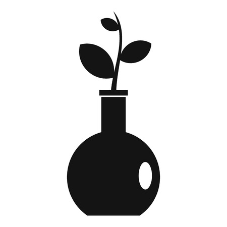 Plant in a vase icon, simple style Illustration