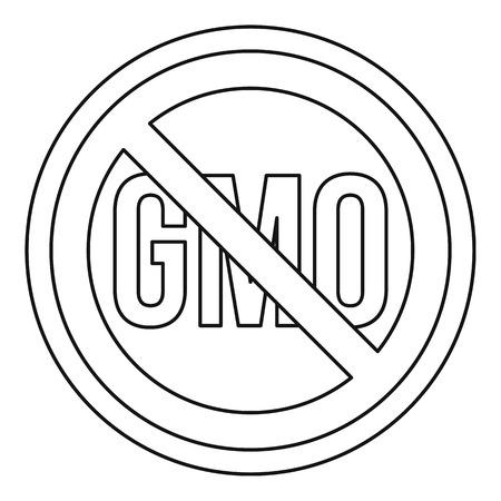 No GMO sign icon, outline style Illustration