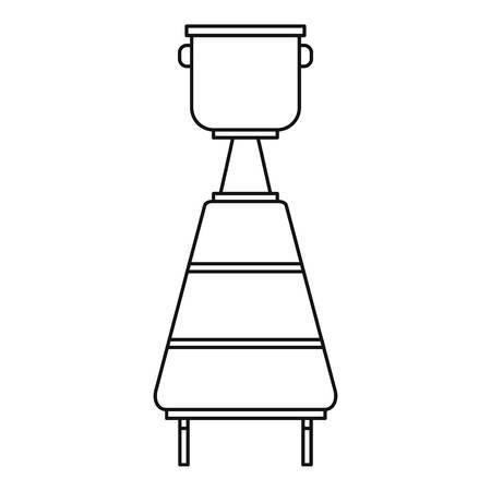 Tank for wine fermentation icon. Outline illustration of tank for wine fermentation vector icon for web Illustration