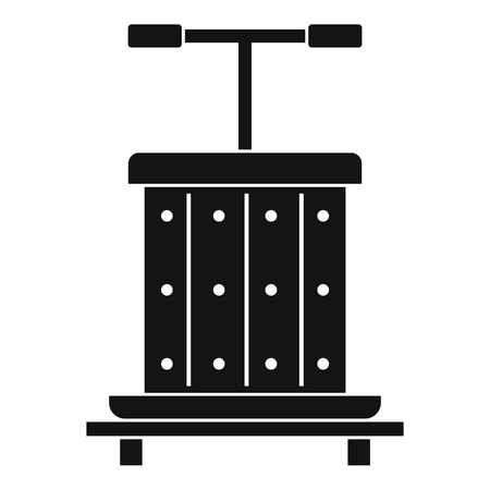 viticulture: Traditional wooden press for grapes icon. Simple illustration of traditional wooden press for grapes vector icon for web Illustration