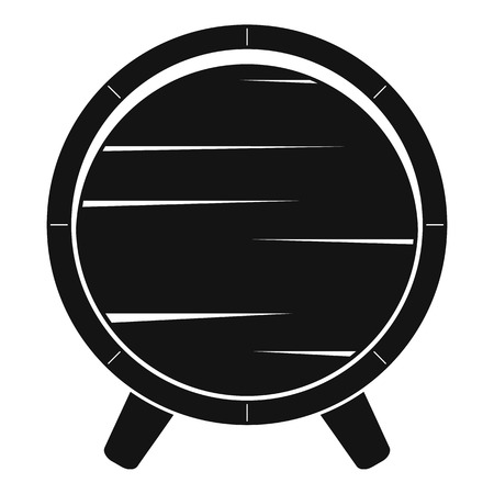 Barrel on legs icon. Simple illustration of barrel on legs vector icon for web