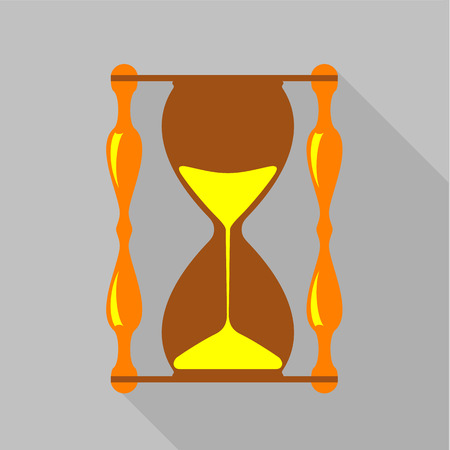 Vintage hourglass icon. Flat illustration of vintage hourglass vector icon for web