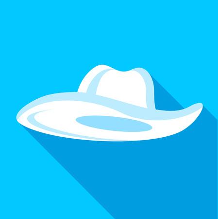 hatband: Panama hat icon. Flat illustration of panama hat vector icon for web