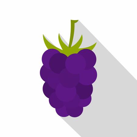 dewberry: Fresh blackberry icon, flat style