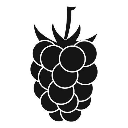 dewberry: Blackberry fruit icon, simple style