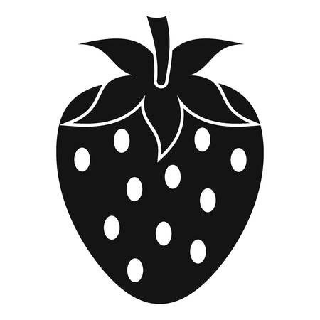 One strawberry berry icon, simple style Illustration