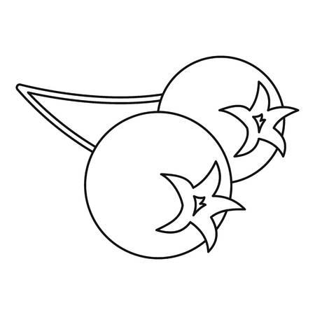 chokeberry: Chokeberry icon, outline style Illustration